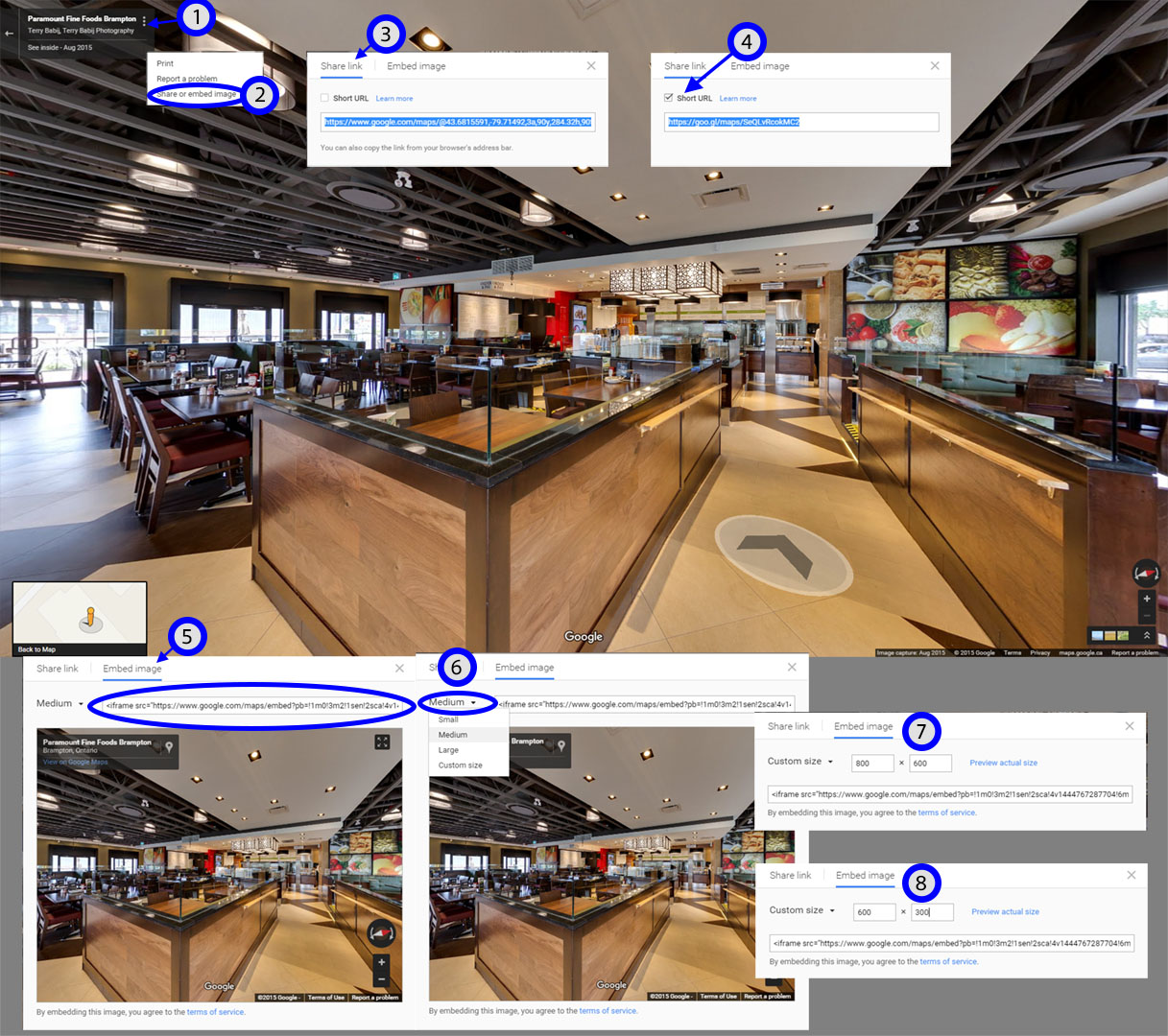 Google Street View, Virtual Tour, Embed Tour,